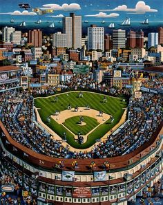 Wrigley Field, Chicago- I haven't gotten to see a game there yet.