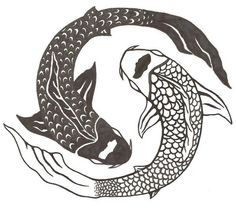ying-yang-koi-fish-tattoo-design-2.jpg (600×557)