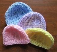 Crochet newborn baby beanie hat