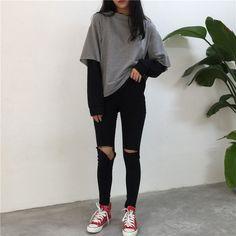 Comprar Jugo del melón Mock suéter de dos piezas | YesStyle