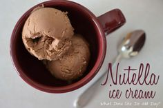 Nutella Ice Cream - www.whatdoesshedoallday.com