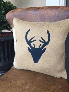 Tête cerf/chevreuil/bois/chevreuil tête Decor/cerf tête coussin/oreiller couverture/oreiller/coussin/chasseur/Deer Hunter