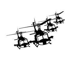 Huey Helicopter Team Vinyl Sticker/Decal V1 by JnMVinylStudio, $9.50