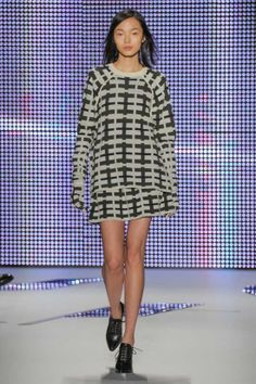 Love the pattern and flippy skirt by @Lacoste at New York Fashion Week! @Mercedes-Benz Fashion Week velvetandvino.com