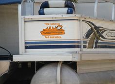 Pontoon Boat Personalized Vinyl Decals by mojographics on Etsy, $19.99
