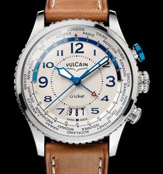 """Vulcain Aviator Cricket Alarm Watch - by Rob Nudds - see more about this latest version of Vulcain's classic: http://www.ablogtowatch.com/vulcain-aviator-cricket-alarm-watch/ """"The Vulcain Aviator Cricket alarm watch is a variant of last year's Vulcain Aviator Instrument that boasted a chronograph but lacked the alarm function. It's a pretty significant feature for most watches, but for Vulcain, the alarm complication is more than just an additional function: it is the foundation of the…"""