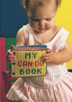 Plastic Canvas Baby Toddler First Book Can DO Book Tissue Cover Rose Set Pattern - Needlepoint Patterns Create A Story Book, Baby's First Books, Needlepoint Patterns, Baby Learning, First Class Shipping, Plastic Canvas Patterns, First Baby, Looney Tunes, Kids Gifts