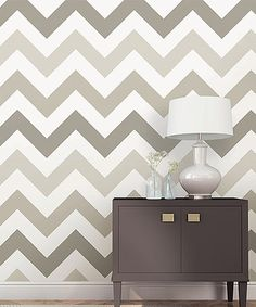 Another great find on #zulily! Taupe Zigzag Wallpaper Decal Roll #zulilyfinds