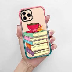 CASETiFY Impact iPhone 11 Pro Case - Books and Tea with Leaf by Famenxt Iphone Meme, Iphone Cases Quotes, Iphone Pro, Free Iphone, Iphone Phone Cases, Iphone 8 Plus, Iphone Homescreen Wallpaper, Funny Iphone Wallpaper, Iphone Wallpapers