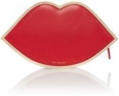Lulu Guinness Lip red clutch bag