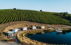 The Trailer Pond offers an adorable vintage RV cluster amidst the organically farmed Alta Colina Vineyard. The stay includes complimentary tasting of their Rhône varietal blends, fresh morning coffee, and the playful, laid-back vibe that the region is known for.