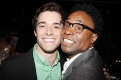 Newsies heartthrob Corey Cott shares a laugh with Kinky Boots headliner Billy Porter.