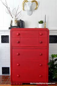 Number Fifty Three Vintage Red Dresser Gf Holiday Red Milk Paint