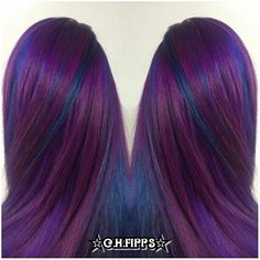 Cosmic Purple and Blue Pinwheel Hair Color - http://sarasotabradentonhairsalon.com/cosmic-purple-and-blue-pinwheel-hair-color/
