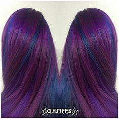 Cosmic Purple and Blue Pinwheel Hair Color - http://sarasotabradentonhairsalon.com/cosmic-purple-and-blue-pinwheel-hair-color/