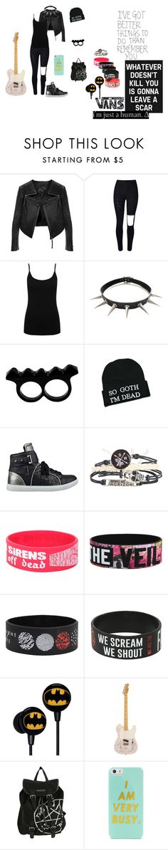 """""""Sooo Goth I'm Dead XD"""" by salvora on Polyvore featuring Linea Pelle, M&Co, L'Artisan Créateur, Kill Star, GUESS, Vans, BaubleBar, women's clothing, women and female"""