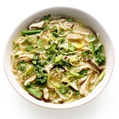 After eating piles of turkey flavored with the usual sage and oregano, you'll be grateful for leftovers that taste totally different: This soup is fiercely gingery (to revitalize you after a holiday-meal stupor). If you're not a ginger lover, cut back the amount to a few slices.