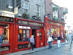 Have a drink at Flannery's Temple Bar Pub in Dublin. . .