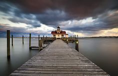 Roanoke Marshes Lighthouse landscape photography from the Outer Banks of NC by Dave Allen  :)