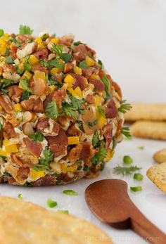 Southwestern Bacon-Jalapeño Cheese Ball - the cheese ball is back but with updated seasonings and finish!!
