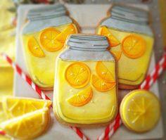 Vegan Lemonade Mason Jar Sugar Cookies by Compassionate Cake on Etsy   $23.95 (6 cookies)