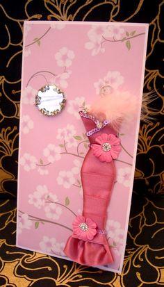 SALE Cherry Personalised Dress Card / Handmade Greeting by BSylvar, $8.00