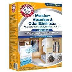 Arm & Hammer - Moisture Absorber & Max Odor Eliminator 16-oz Hanging Bags (2 Pack box)