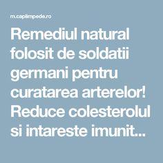 Remediul natural folosit de soldatii germani pentru curatarea arterelor! Reduce colesterolul si intareste imunitatea! – Cap Limpede