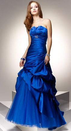 this screams prom dress...but i do like the color!