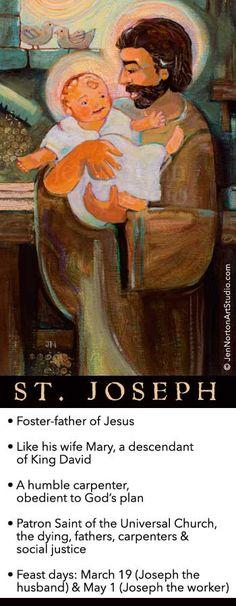 St. Joseph with Baby Jesus © Jen Norton