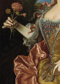 Jean Ranc: Portrait of Barbara of Portugal, 1729 (details of). #JeanRanc #BarbaraPortugal #VonGiesbrechtJewels