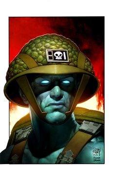 """"""" Rogue Trooper - Glenn Fabry More fabulous art from our US cousins' IDW Comics featuring characters from the Galaxy's Greatest Comic, this time it's Nu Earth's clone gunman, the. Comic Book Characters, Comic Character, Comic Books Art, Fictional Characters, Abc Warriors, 2000ad Comic, Sci Fi Comics, Comic Kunst, Brown Art"""