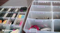Alejandra always has such great tips for organizing everything!  These organizers for office supplies is a wonderful idea!