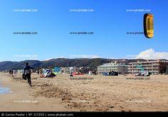 Playa de Castelldefels, kitesurf