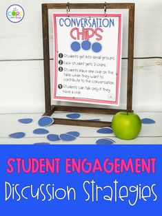 These 10 simple strategies will engage your students in discussion and help you meet the Speaking and Listening Core standards. The colorful posters are ready to print and hang or project in your classroom for easy reference when you want kids to talk about topics or text. Introduce a few at a time...