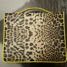Cheetah print ipad case Brand new cheetah print i stylish I pad case,lime green trim Bags Laptop Bags