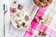 Chocolate Chip Cookie Dough 'Blizzard' - non  dairy alternative!! sounds really yummy