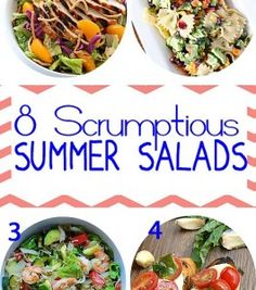 8 Scrumptious Summer Salads and Inspiration Monday Party - Refresh Restyle