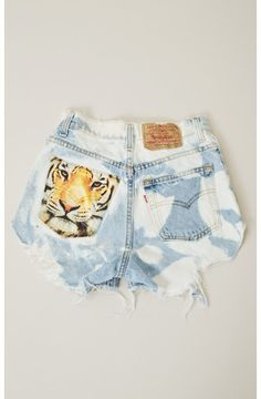 Tiger Cutoff Shorts