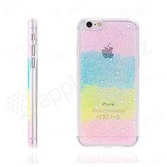 Gumový kryt pro Apple iPhone 6 / 6S - třpytivý s hvězdičkami - barevný