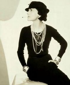 Coco Chanel famous Little Black Dress - Art Deco Fashions    From all the women - Thank you Coca Chanel for the little black dress and costume jewelry.