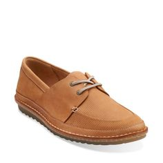 Grafted Sail Tan Leather - Men's Oxfords and Lace Up Shoes - Clarks