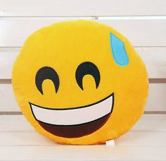 THD Mart Bedding Outlet Cute Emoji Cushion Home Smiley Face Pillow Stuffed Toy Soft Plush Best Sell Style: ModernPattern Type: CartoonBrand Name: Bedd