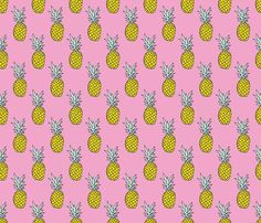 Changing pad cover - Pink Pineapple