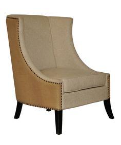 "Noir Aiden Chair - Black  H:43"" W:32"" D:33""  Custom Fabric/Leather Options"