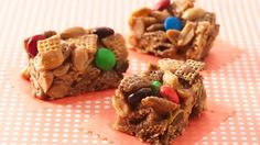 Gluten Free Peanut and Chocolate Chex® Bars. A sweet treat everyone will enjoy!