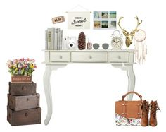 """""""vintage table"""" by annieanne-tumblr13 ❤ liked on Polyvore featuring interior, interiors, interior design, home, home decor, interior decorating, 1&20 Blackbirds, Free People, Three Hands and Newgate"""