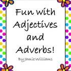Why not let your students have fun while learning about adjectives and adverbs?! Included in this product are 6 different activities: Improving Sentences with Adjectives I & II, Using Adjectives, Improving Sentences with Adverbs, Using Adverbs, Adjectives Matching Game and Adverbs Matching Game.  Answer key included. **Aligned with the Common Core.**