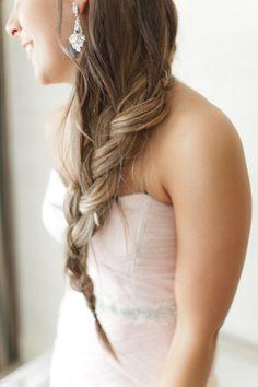Bridal hair. Wedding hair. Long braid. Long plait. big, gorgeous, loose braid! | Andi Mans #wedding