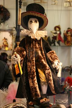 Venetian Plague Doctor Marionette by pisanim, via Flickr